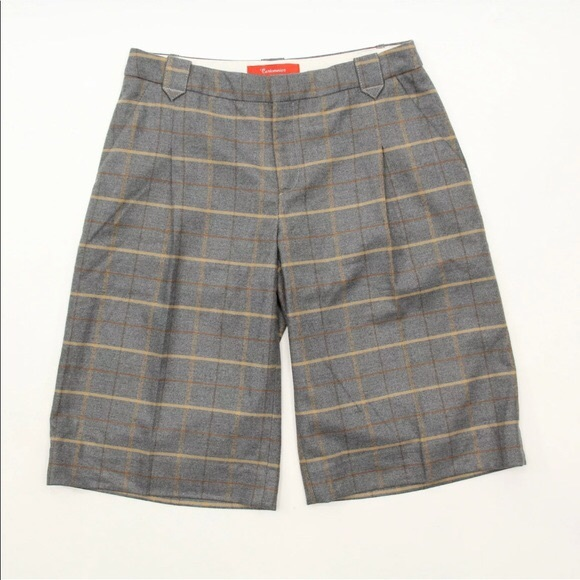 Anthropologie Pants - Anthropologie Cartonniere Sz 8 Wool Plaid Shorts